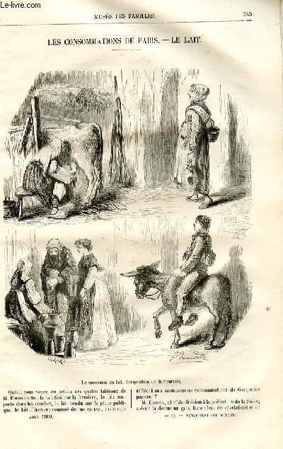 Le musée des familles - lecture du soir -  livraison n°44 - Les consommations de Paris - le lait par Pitre Chevalier.