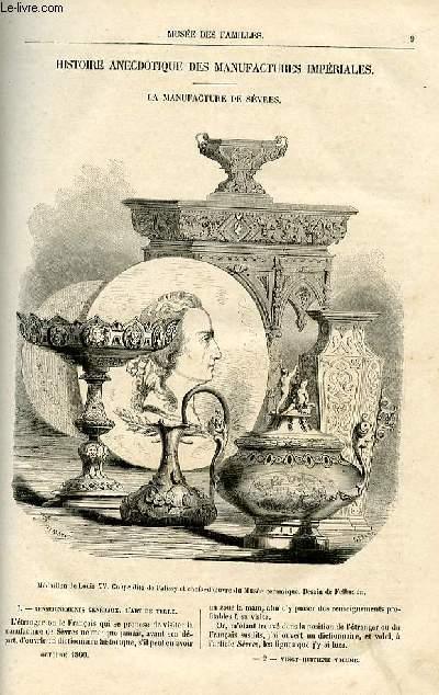 Le musée des familles - lecture du soir -  livraison n°02 - Histoire anecdotique des manufactures impériales - La manufacture de Sèvres  par Louis berger.