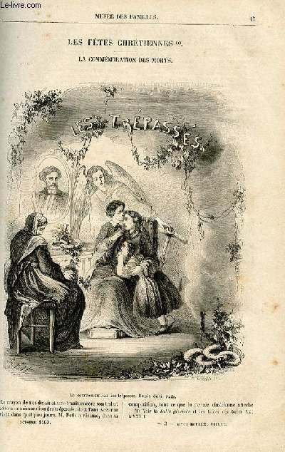 Le musée des familles - lecture du soir -  livraison n°03 - Les fêtes chrétiennes - La commémoration des morts par Pitre Chevalier.