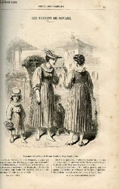 Le musée des familles - lecture du soir -  livraison n°07 - Les paysans de Novare (Piémont).