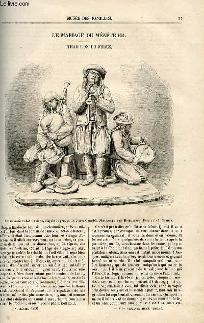Le musée des familles - lecture du soir -  livraison n°08 - Le mariage du ménétrier, tradition du forez par Auguste Callet.