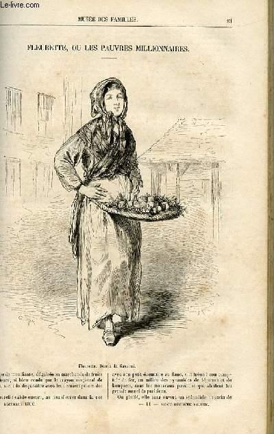 Le musée des familles - lecture du soir -  livraison n°11 - Fleurette, ou les pauvres millionnaires.