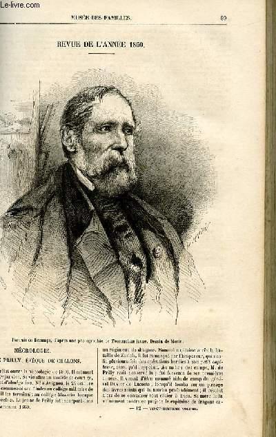 Le musée des familles - lecture du soir -  livraison n°12 - Revue de l'année 1860 par Pitre Chevalier.