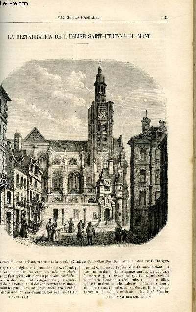 Le musée des familles - lecture du soir -  livraison n°16 - La restauration de l'église Saint Etienne du Mont.
