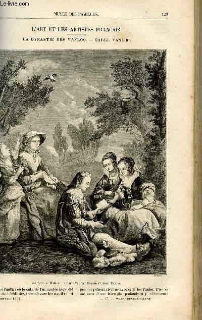 Le musée des familles - lecture du soir -  livraisons n°17 et 18 - L'art et les artistes français: La dynastie des van loo - Carle Vanloo par Victor fournel.
