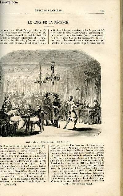 Le musée des familles - lecture du soir -  livraison n°20 - Le café de la régence par  par Ch. Wallut.