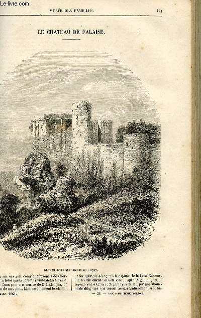 Le musée des familles - lecture du soir -  livraisons n°21 et 22 - Le château de Falaise par Ch. Wallut.