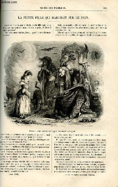 Le musée des familles - lecture du soir -  livraison n°24 - La petite fille qui marchait sur le pain par  D. Soldi, imité du danois.