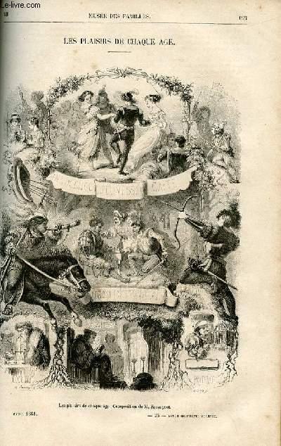 Le musée des familles - lecture du soir -  livraisons n°25 et 26 - Les plaisirs de chaque âge par Ch. Wallut, petit poème.