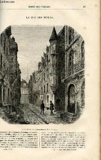 Le musée des familles - lecture du soir -  livraison n°27 - La rue des nobles par Jules d'Herbauges, à suivre.