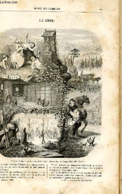 Le musée des familles - lecture du soir -  livraisons n°37 et 38 - La bière par P. Grolier.