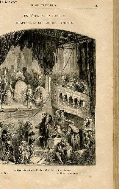 Le musée des familles - lecture du soir -  livraisons n°41 et 42 - Les fêtes de la famille - Le baptême - la légende des layettes  par Pitre Chevalier, rédigé sur les notes posthumes de Lady jane).