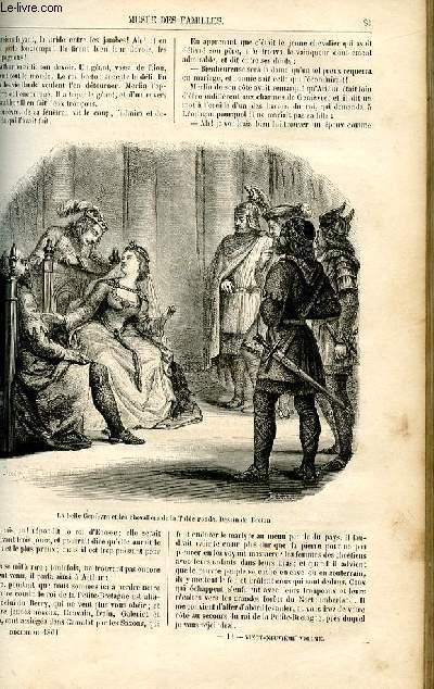 Le musée des familles - lecture du soir -  livraisons n°11 et 12 - Les contes en famille - l'enchanteur Merlin, le roi Arthur et la table ronde,suite et fin.