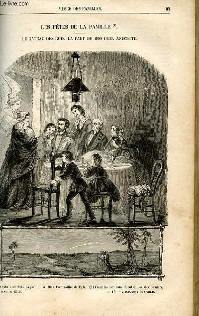 Le musée des familles - lecture du soir -  livraison n°13 - Les fêtes de famile - Le gâteau des rois - la part du bon dieu,anecdote par Pitre Chevalier.