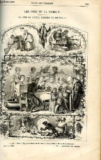 Le musée des familles - lecture du soir -  livraisons n°17 et 18- Les joies de la famille - la fête de l'aieul, légende de bohême par Louis Enault.