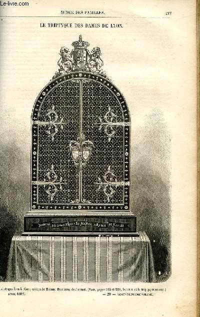 Le musée des familles - lecture du soir -  livraison n°28 - Le tryptique des dames de Lyon par Pitre chevalier,petit article.