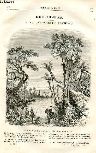 Le musée des familles - lecture du soir -  livraison n°29 - Etudes religieuses - La vie et les aventures d'un missionnaire,suite et fin par Marie Viallet.