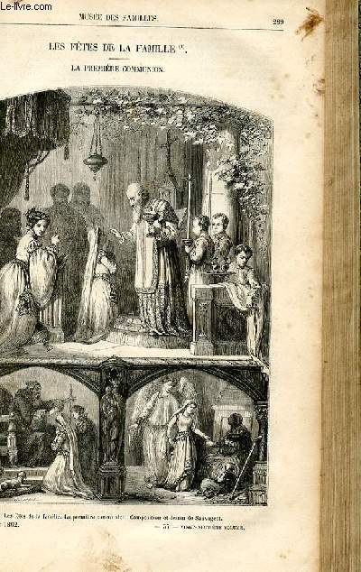 Le musée des familles - lecture du soir -  livraison n°37 - Les fêtes de la famille - La première communion par Louis Enault,petit article.