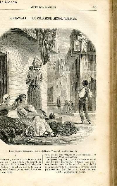 Le musée des familles - lecture du soir -  livraison n°38 - Aspinwall - Le chasseur Senor Valran par Richard Cortambert.