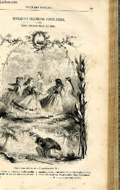 Le musée des familles - lecture du soir -  livraison n°41 - Quelques chansons populaires - Nous n'irons plus au bois par James Clarence.