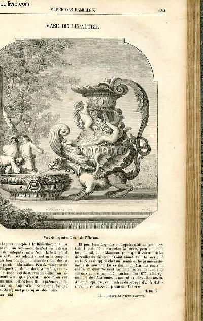 Le musée des familles - lecture du soir -  livraison n°42 - Vase de Lepautre (petit article).