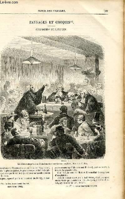 Le musée des familles - lecture du soir -  livraisons n°47 et 48 - Paysages et croquis - Curiosités de Londres par Amédée Achard.