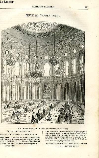 Le musée des familles - lecture du soir -  livraisons n°15 et 16 - Revue de l'année 1862,suite.