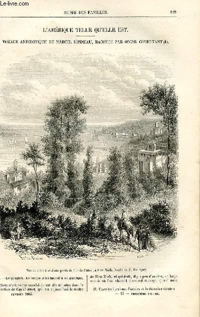 Le musée des familles - lecture du soir -  livraisons n°17 et 18 - L'Amérique telle qu'elle est,suite - Voyage anecdotique de Marcel Bonneau raconté par Oscar Comettant,suite.