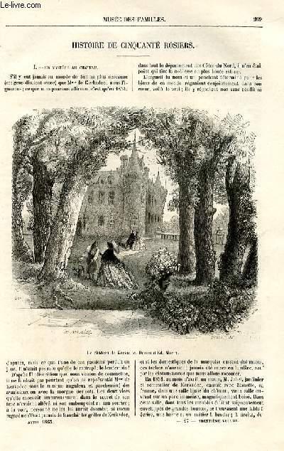 Le musée des familles - lecture du soir -  livraison n°27 - Histoir ede cinquante rosiers par Adam Boisgontier,à suivre.