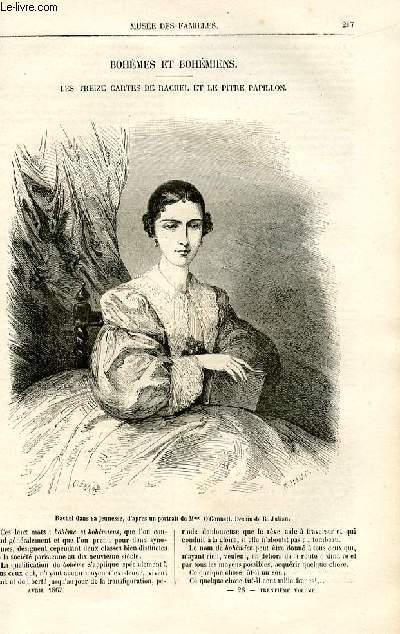 Le musée des familles - lecture du soir -  livraison n°28 - Bohèmes et bohémiens - Les treize cartes de Rachel et le pitre papillon par Charles Pradier.