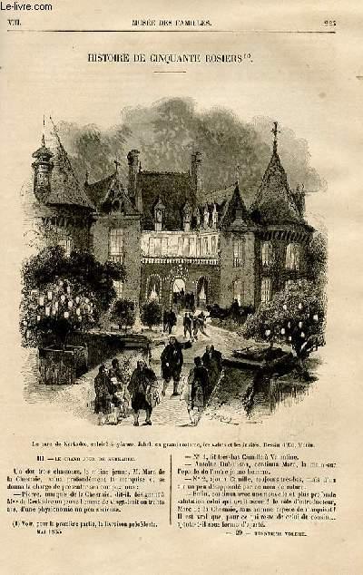 Le musée des familles - lecture du soir -  livraison n°29 - Histoire de cinquante rosiers par Adam Boisgontier,suite et fin.
