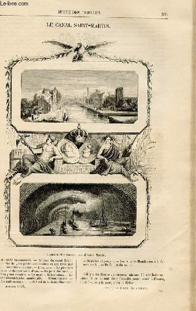Le musée des familles - lecture du soir -  livraisons n°39 et 40 - Le canal Saint MArtin par Fulbert Dumonteilh.