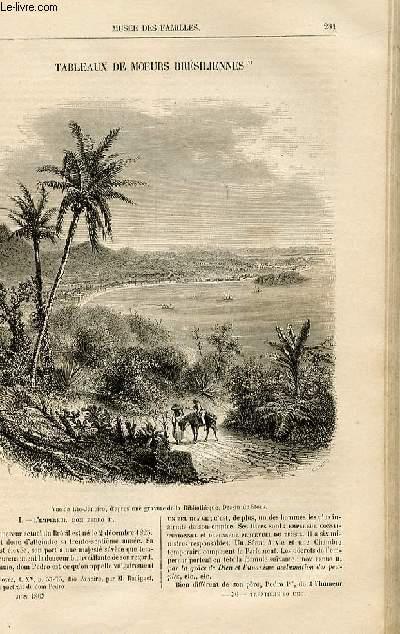 Le musée des familles - lecture du soir -  livraison n°36 - Tableaux de moeurs brésiliennes par Charles Expilly.