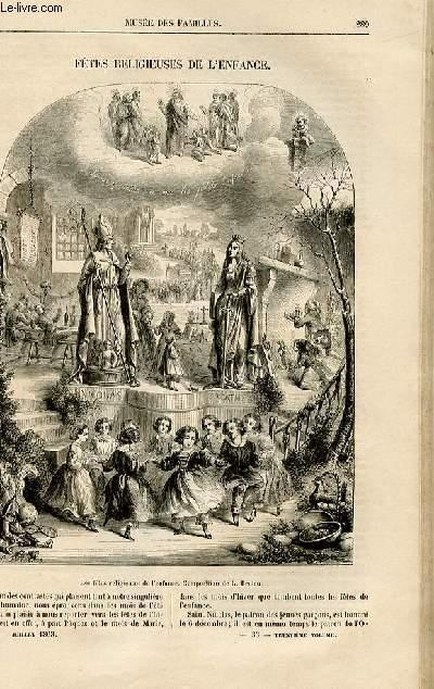 Le musée des familles - lecture du soir -  livraison n°33  bis- Fêtes religieuses de l'enfance par H. de C.