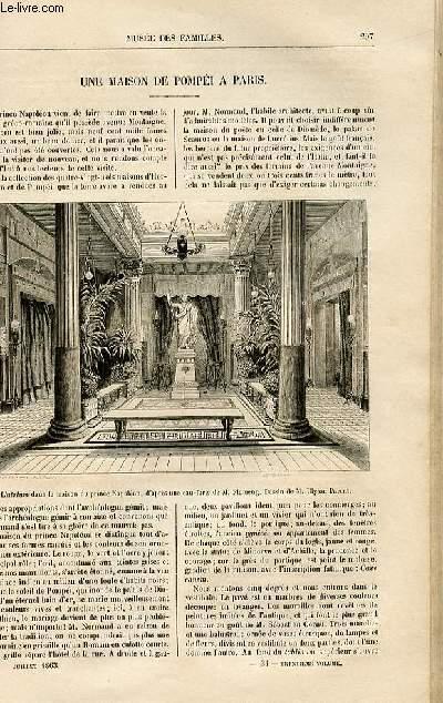 Le musée des familles - lecture du soir -  livraison n°34 bis - Une maison de Pompéi à Paris.