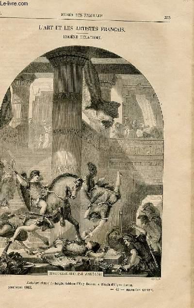 Le musée des familles - lecture du soir -  livraison n°45,46,48 - L'art et les artistes français - Eugène Delacroix par Hector de Callias.