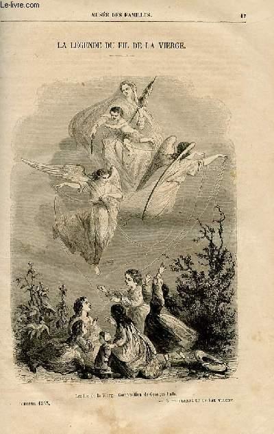 Le musée des familles - lecture du soir -  livraisons n°03 et 04 - La légende du fil de la vierge par Paul Féval.