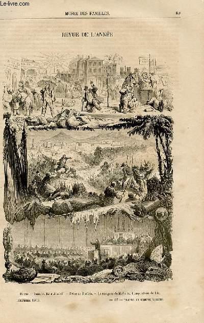 Le musée des familles - lecture du soir -  livraison n°12 - Revue de l'année,à suivre.
