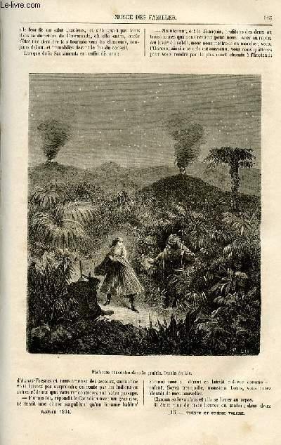 Le musée des familles - lecture du soir -  livraison n°15 et 16 - Le batteur de sentiers, scènes de la vie mexicaine , suite par Aimard.