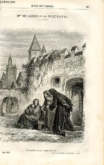 Le musée des familles - lecture du soir -  livraison n°29 - Mlle de Launay ou la fille pauvre par Jules Janin,à suivre.
