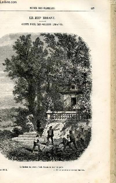 Le musée des familles - lecture du soir -  livraisons n°33 et 34 - Le juif errant,conte pour les grands enfants par Paul Féval,à suivre.