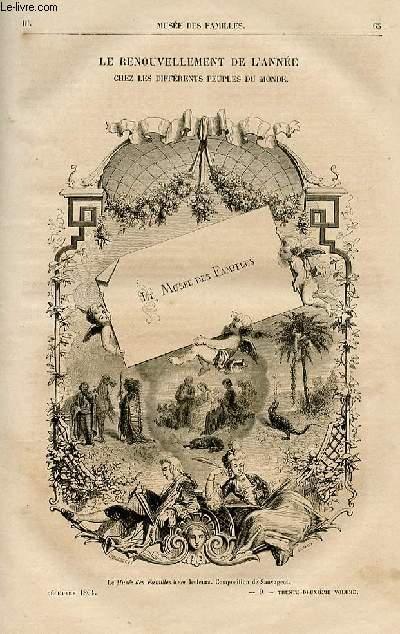 Le musée des familles - lecture du soir -  livraison n°09 - Le renouvellement de l'année chez les différents peuples du monde par Oscar Comettant.