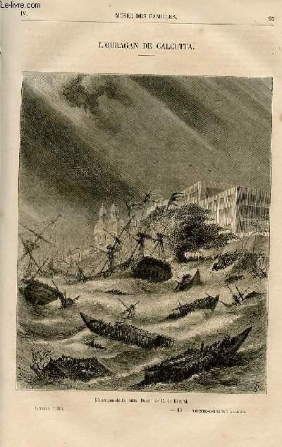 Le musée des familles - lecture du soir -  livraisons n°13 et 14- L'ouragan de Calcutta par Ch. raymond.