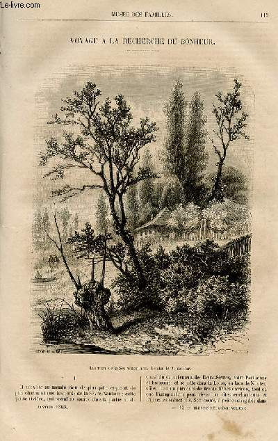 Le musée des familles - lecture du soir -  livraison n°15 - Voyage à la recherche du bonheur par Armand lapointe,à suivre.