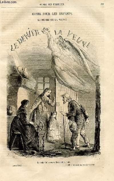 Le musée des familles - lecture du soir -  livraisons n°23 et 24 - Conte pour les enfants - Le denier de la veuve par Maurice Cristal.