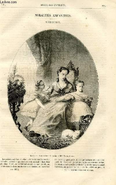 Le musée des familles - lecture du soir -  livraisons n°29 et 30 - Moralités enfantines - médiation par Maria Chenu.