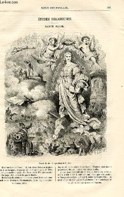Le musée des familles - lecture du soir -  livraisons n°47 et 48 - Etudes religieuses - Sainte Barbe par Fulbert  Dumonteilh.