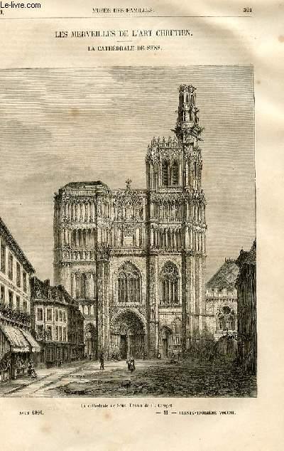 Le musée des familles - lecture du soir -  livraison n°41 - Les merveilles de l'art chrétien - La cathédrâle de Sens par Raymond.