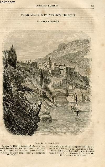Le musée des familles - lecture du soir -  livraison n°43 - Les nouveaux départements français - Les alpes maritimes par P. de lamourière.