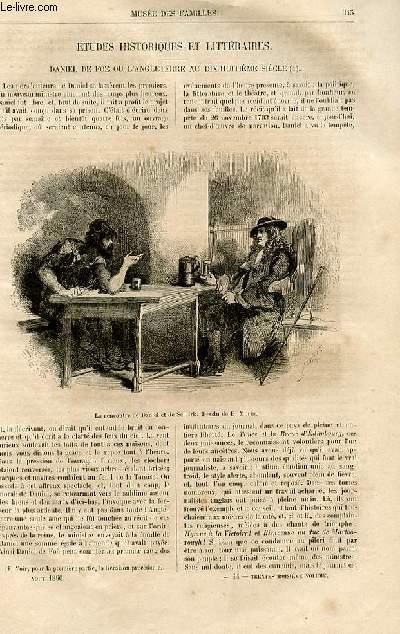 Le musée des familles - lecture du soir -  livraison n°44 - Etudes historiques et littéraires - Daniel de Foë ou l'Angleterre au 18ème siècle par Janin,suite et fin.